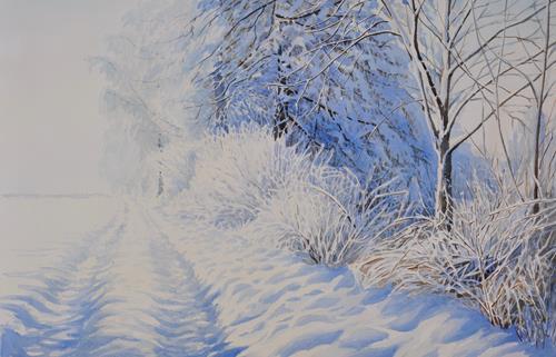 Daniel Gerhard, Sommer am Bach, Nature: Water, Landscapes: Summer, Naturalism, Expressionism
