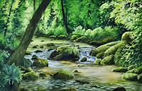 Daniel-Gerhard-Nature-Water-Landscapes-Summer-Modern-Age-Naturalism