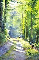 Daniel-Gerhard-Landscapes-Summer-Plants-Trees-Modern-Age-Abstract-Art