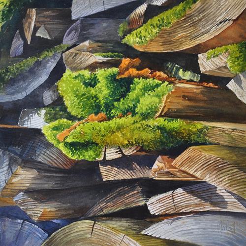 Daniel Gerhard, Ausser Moos nix los..., Plants: Trees, Nature: Wood, Abstract Art