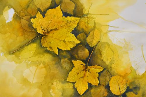 Daniel Gerhard, Herbst!, Landscapes: Autumn, Nature: Wood, Abstract Art