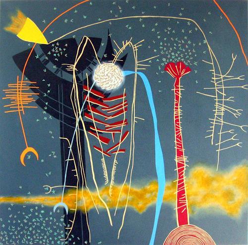Pablo Lira, Komposition für einen Ursprung, Abstract art, Miscellaneous, Neo-Geo, Abstract Expressionism
