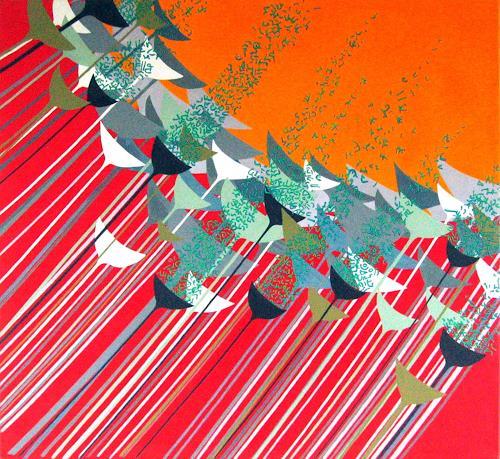 Pablo Lira, Sporen, Abstract art, Movement, Neo-Geo