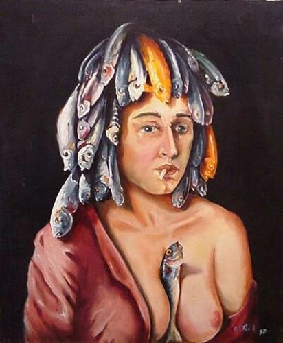 Werner Fink, N/T, Erotic motifs: Female nudes, People: Women, Naturalism, Modern Age
