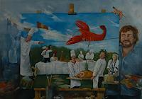 W. Fink, Der Balanceakt des Hummers veranlasste die Frau des Meeresfrüchtebändigers sich zu entkleiden.