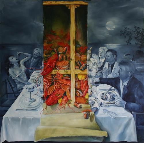 Werner Fink, Wir haben schon mal ohne Monti angefangen, Meal, People: Group, Postmodernism, Abstract Expressionism