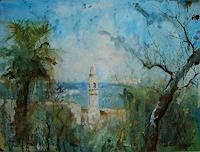 Werner-Fink-Landscapes-Sea-Ocean-Nature-Miscellaneous-Modern-Age-Impressionism-Post-Impressionism