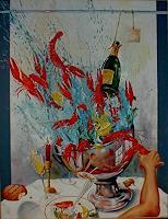 Werner-Fink-Meal-Still-life-Modern-Age-Avant-garde-Surrealism