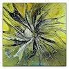 Burgstallers-Art, Expansion, 100x100 ,abstrakte Malerei, Acrylbild,Gemälde, Kunst in gelb, grau