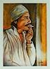 Burgstallers-Art, Araber, rauchend, Beduine, Marrokaner, handgemaltes Gemälde, Originale Künstler Bilder 80x100