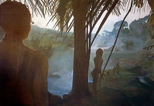 Frank Dimitri Etienne, Der Schatz, Landscapes: Tropics, Photo-Realism