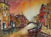 Conny, Aquarell Venedig im Abendlicht