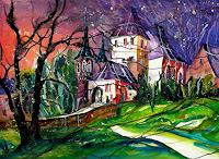 Conny, Aquarell Schloss Worb
