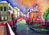 Conny, Venedig Aquarell San Nicolo