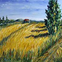 Claudia-Hansen-Landscapes-Summer-Landscapes-Plains-Modern-Age-Impressionism-Post-Impressionism