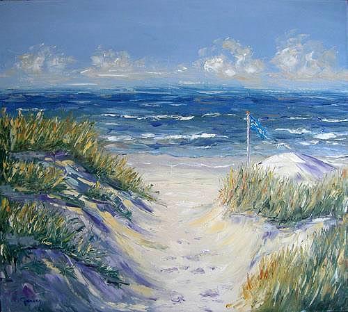 Claudia Hansen, Dünenlandschaft - II, Landscapes: Sea/Ocean, Landscapes: Summer, Post-Impressionism, Expressionism