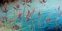 Claudia-Hansen-Landscapes-Sea-Ocean-Plants-Flowers-Modern-Age-Impressionism-Post-Impressionism