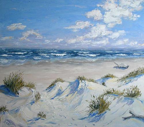 Claudia Hansen, Nordsee Dünen, Landscapes: Sea/Ocean, Landscapes: Summer, Post-Impressionism, Expressionism