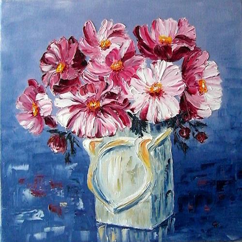 Claudia Hansen, Herbst-Anemonen, Plants: Flowers, Still life, Post-Impressionism, Expressionism