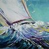 Claudia Hansen, Segelboot auf stürmischer See