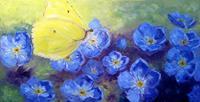 Claudia-Hansen-Landscapes-Summer-Plants-Flowers-Modern-Age-Impressionism-Post-Impressionism