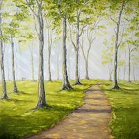 Claudia-Hansen-Plants-Trees-Landscapes-Summer-Modern-Age-Impressionism-Post-Impressionism