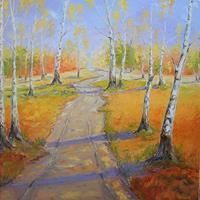 Claudia-Hansen-Landscapes-Autumn-Plants-Trees-Modern-Age-Impressionism-Post-Impressionism