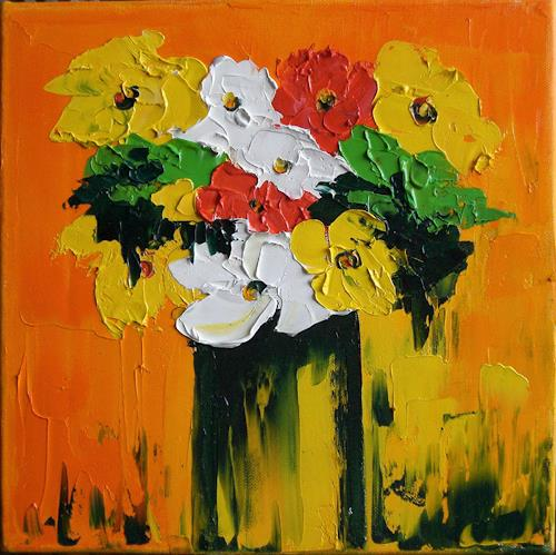 Claudia Hansen, Pure Colour, Plants: Flowers, Still life, Fauvismus, Abstract Expressionism