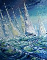 Claudia-Hansen-Landscapes-Sea-Ocean-Landscapes-Summer-Modern-Age-Impressionism-Post-Impressionism