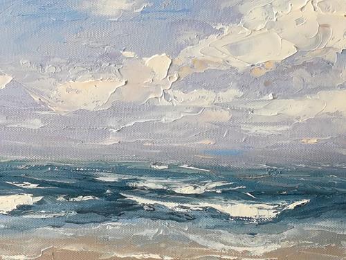 Claudia Hansen, Meereslandschaft, Landscapes: Sea/Ocean, Landscapes: Beaches, Post-Impressionism, Expressionism