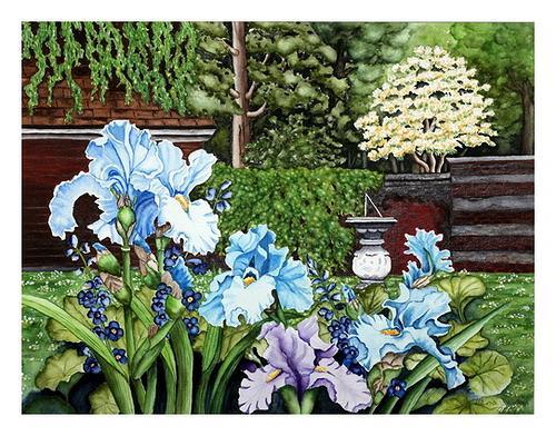 Maria Inhoven, Irisgarten, Landscapes: Spring, Plants: Flowers, Naturalism