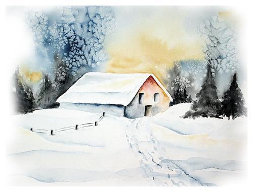 Maria Inhoven, Wintersonne, Landscapes: Winter, Nature: Miscellaneous, Naturalism