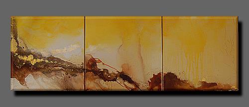 Nele Kugler, summer rain, Landscapes: Summer, Abstract art, Abstract Art
