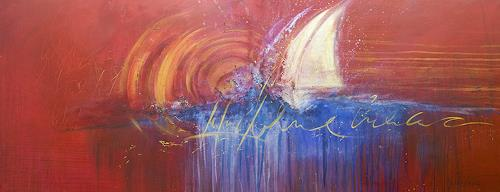 Nele Kugler, sail away, Abstract art, Landscapes: Sea/Ocean, Abstract Art