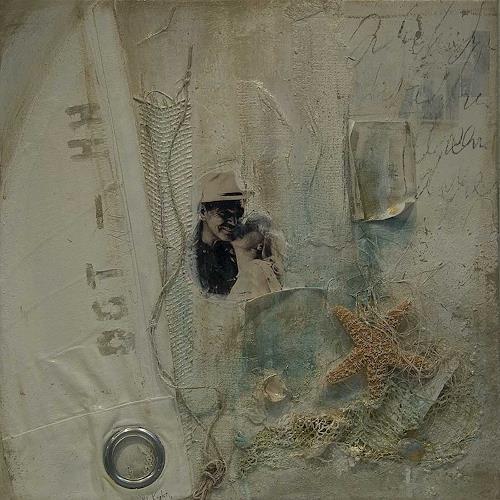 Nele Kugler, am Sonntag will mein Süsser mit mir Segeln gehn...., Abstract art, Society, Abstract Art