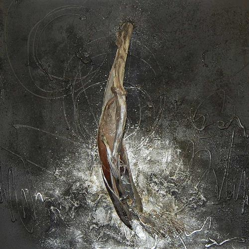 Nele Kugler, der Nachtbaum, Abstract art, Nature: Wood, Contemporary Art, Abstract Expressionism