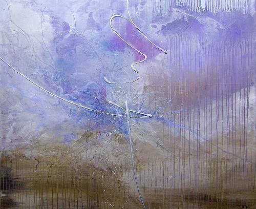 Nele Kugler, Gezeitenspiel, Abstract art, Landscapes: Sea/Ocean, Contemporary Art, Expressionism