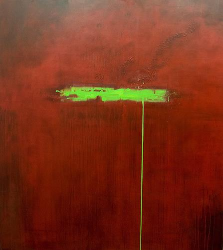Nele Kugler, green mile, Abstract art, Fantasy, Contemporary Art, Abstract Expressionism