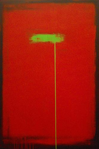 Nele Kugler, green mile IV, Abstract art, Society, Contemporary Art