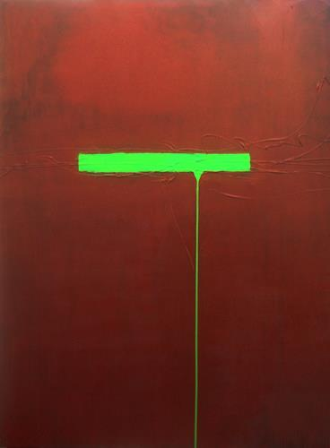 Nele Kugler, green mile III, Abstract art, Society, Contemporary Art, Abstract Expressionism