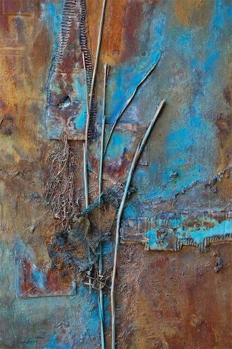 "Nele Kugler, Detailaufnahme ""Horizonte, Emotions, Abstract art, Contemporary Art, Expressionism"