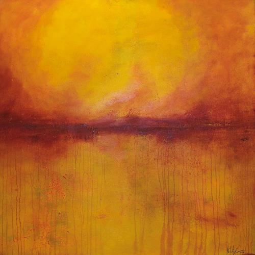 Nele Kugler, indian summer I, Abstract art, Landscapes: Summer, Contemporary Art, Expressionism