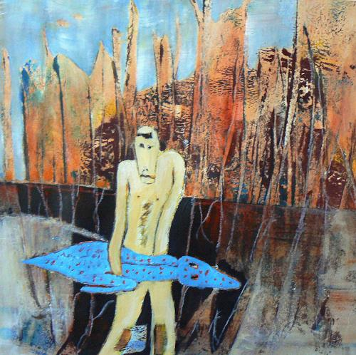 Gerda Lipski, krokodil dummi, Abstract art, Hunting, Abstract Expressionism