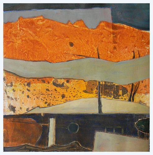 Gerda Lipski, 0.T., Abstract art, Landscapes: Mountains