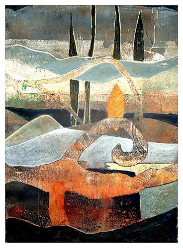 Gerda Lipski, o.T., Landscapes: Mountains, Fantasy