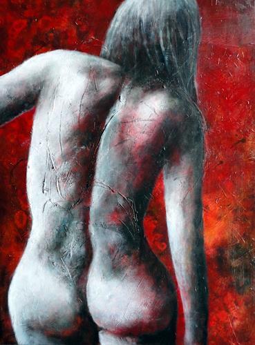 Gerda Lipski, Rückenakt, Erotic motifs: Female nudes