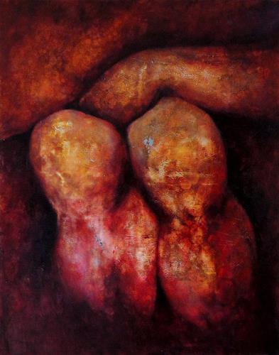 Gerda Lipski, männl. Knie, Erotic motifs: Male nudes, People: Men