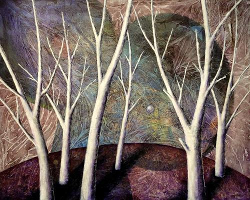 Gerda Lipski, magischer Wald, Nature: Wood, Mythology, Abstract Expressionism