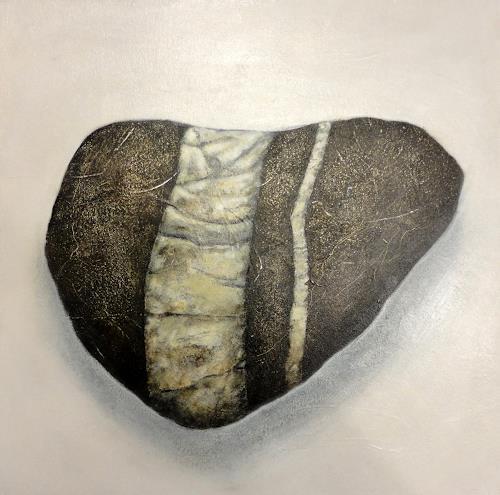 Gerda Lipski, Rheinkiesel 1, Nature: Rock, Expressionism