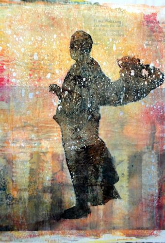Gerda Lipski, Mönch auf dem Weg, Belief, People: Men, Expressionism